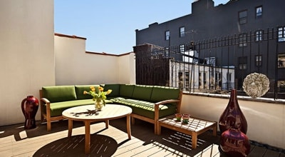 Vacation Home Rentals NYC - Terrace
