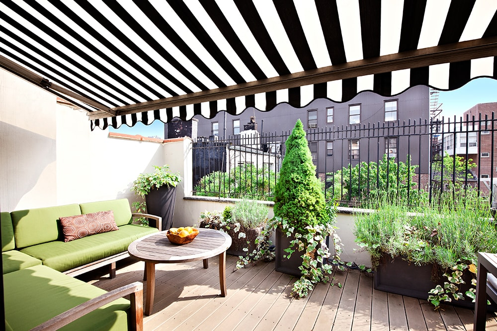 Rooftop Patio in the Penthouse Vacation Rental Apartment