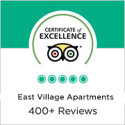 TripAdvisor Certificate of Excellence by East Village Apartments By Sudha
